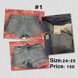 pre loved short and skirt