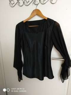 Blus satin personal style M