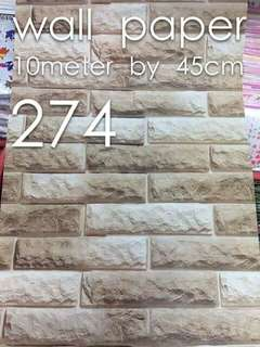 Brick stones High quality wallpapers self adhesive tape
