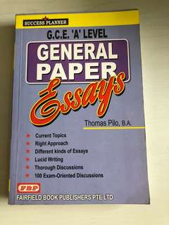 GCE A LEVEL General Paper Essays