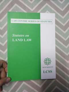 Statutes on land law