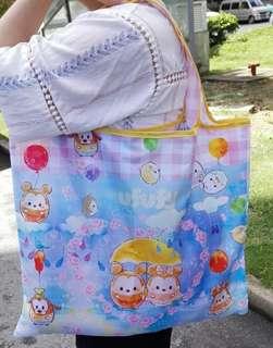 🚚 【全新】迪士尼超可愛Tsum Tsum摺疊環保購物袋