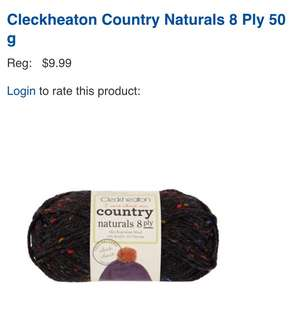 Cleckheaton Country Naturals 8 Ply Wool Yarn Dark Blue