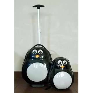 Travel tots (penguin) lightweight carry on luggage and backpack set