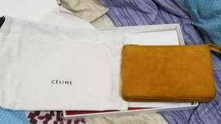 100% real Celine trio clutch bag