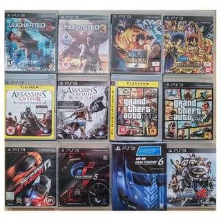 PS3 Used Games , GTA , Assassin Creed, One Piece , Basara, Saint Seiya