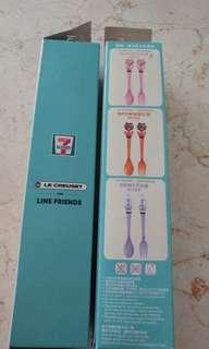 HK 7-11 Line x Le Creuset Choco cultery