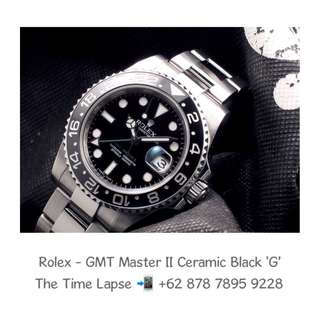 Rolex - GMT Master II Ceramic Black 'G' (Watch Only)