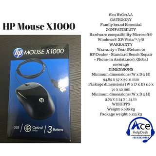 🚚 HP X1000 Wired Mouse
