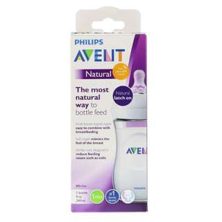 🚚 Philips Avent, Natural Latch On Bottle, 1 + Months, 1 Bottle, 9 oz (260 ml)
