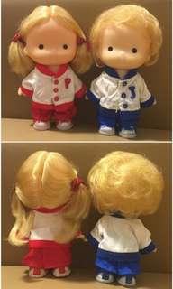 Sanrio Patty & Jimmy 1976 年 人形膠公仔 (6.5 吋高) (** 只限北角地鐵站交 **)