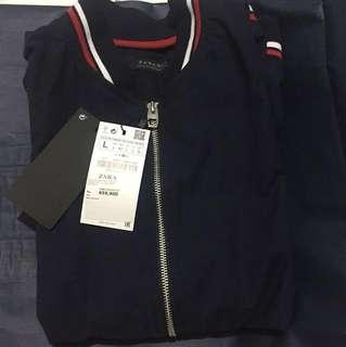 Zara Man Oxford Bomber Jacket Naby
