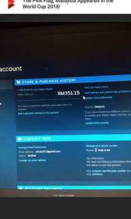 Steam id for sale with rm350++ steam wallet