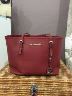 Authentic Michael Kors tote bag in red