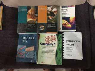 Medical school textbooks--Surgery books and OSCE