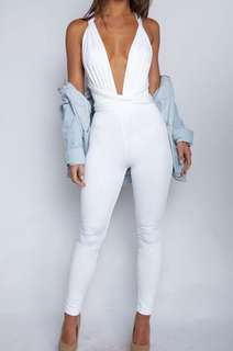 White Luxe Life Jumpsuit