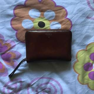 Fossil wallet brown - ori