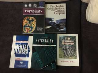 Psychiatry Medical School textbooks.