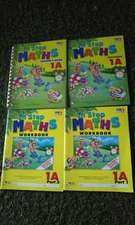 In Step Maths Primary 1A textbook and workbooks part 1 & 2 all Teacher's Edition