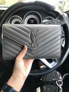 YSL sling and clutch WOC