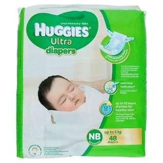 Huggies Ultra Diapers NB 48 pcs