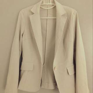Biege Formal Blazer/Jacket  For Women