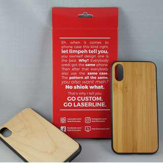 Custom Laser Engraving for iPhone and Samsung Wood Cases