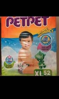Petpet Xl 52 diapers