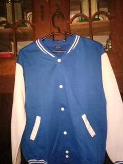 Sweater Baseball Biru