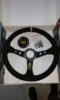 STEERING WHEEL OMP SUEDE