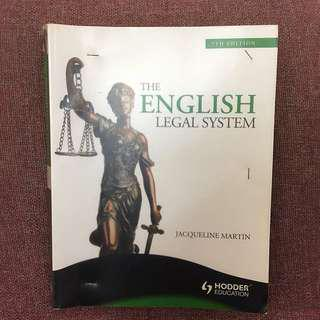 English Legal System A Level Law Textbook by Jacqueline Martin