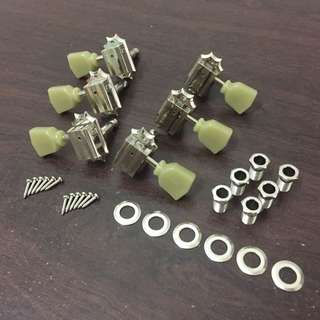 Vintage Kluson 3L3R Machine Head Tuners (Nickel)