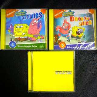 Spongebob Squarepants 2 Video CDs & 1 Music CD Bundle