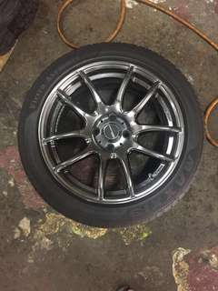 Works Emotion 16 inch with tyres.