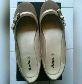 Flatshoes Coklat Beludru