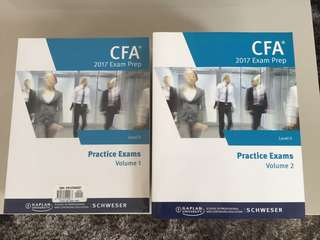 Schweser 2017 Level II CFA Notes Exams & Workbooks