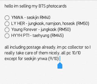 BTS PHOTOCARDS OFFICIAL
