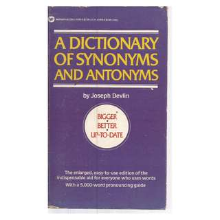 Joseph Devlin - Bigger Better Up To Date - A Dictionary of Synonyms