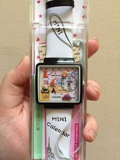 Mini Miniature Calendar Watch