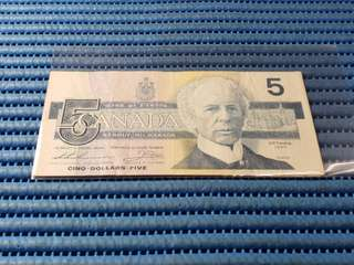 1986 Canada $5 Five Dollars Note FNV 9260824 Dollar Banknote Currency