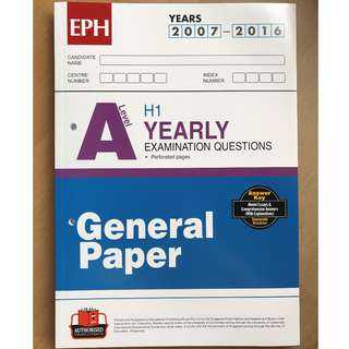 EPH A Level General Paper 2007-2016