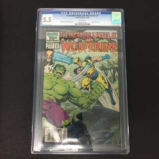 Incredible Hulk/ Wolverine 1 CGC Marvel Comics Book Stan Lee Movie Avengers