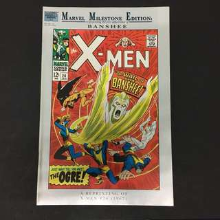 Marvel Milestone Edition Xmen 28 Comics Book Stan Lee Movie X-Men