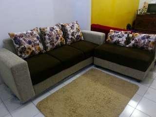 Sofa L Minimalis Shabby Chic