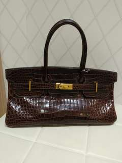Hermes shoulder birkin crocodile
