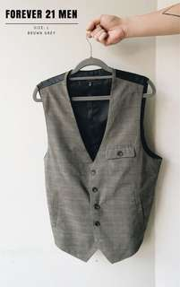21Men Patterned Vest
