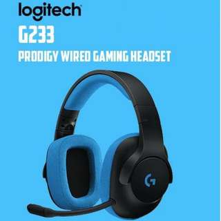 (Local Warranty)Logitech G233 Prodigy Gaming Headset for PC, PS4, PS4 PRO, Xbox One, Xbox One S, Nintendo Switch
