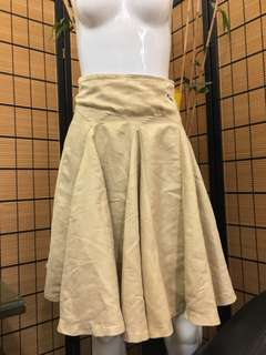 Suede Skirt with Godet Inserts
