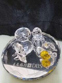 💖✨🐙🐬🐢 DBS 星展銀行 豐盛理財 海洋世界 水晶擺設