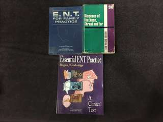 ENT textbooks. Medical school textbooks.